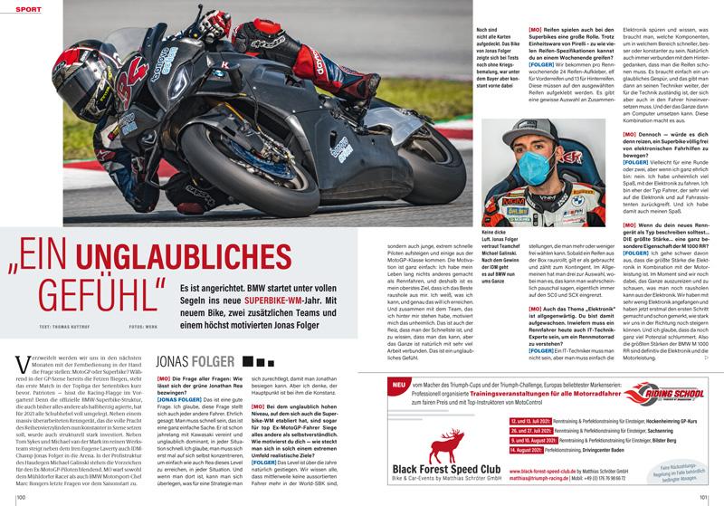 BMW in der Superbike-WM: Gespräch mit dem neuen Fahrer Jonas Folger und Sportchef Marc Bonger