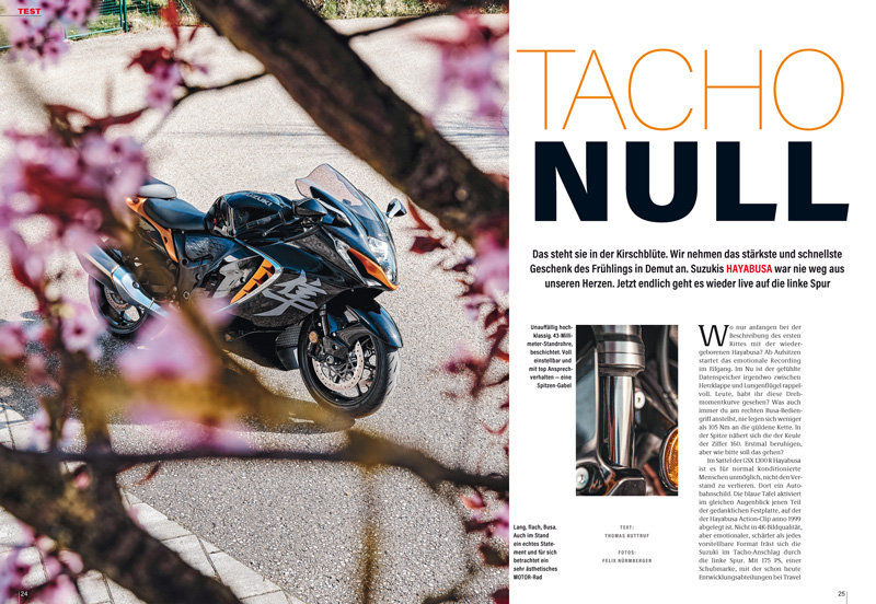 Suzuki Haybusa – die Ikone der Speedbikes rennt weiter. Die Neuauflage im Vollgastest