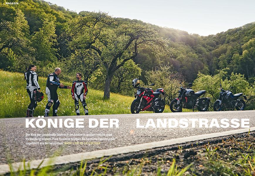 Roadster-Reiten mit BMW S 1000 R, Triumph Trident 660 und Yamaha MT-09