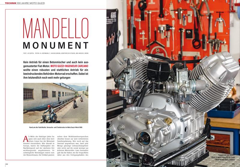 Gechichte 100 Jahre Moto Guzzi und der legendäre V2