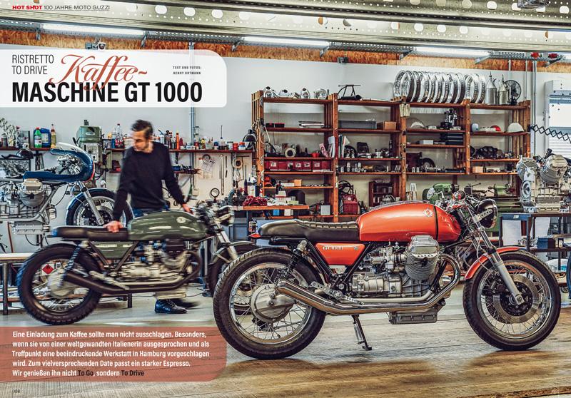 Hot Shot: Moto Guzzi GT 1000 stilsicher umgebaut von Kaffeemaschine aus Hamburg