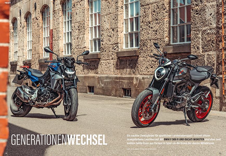 Vergleichtest Ducati Monster und BMW F 900 R