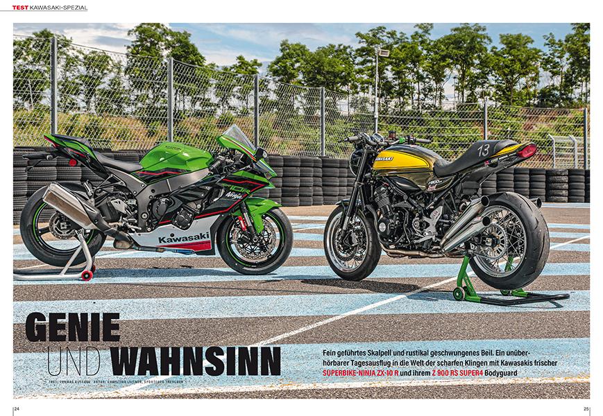 Kawasaki-Spezial: Test Ninja ZX-10R und Z 900 RS Super 4