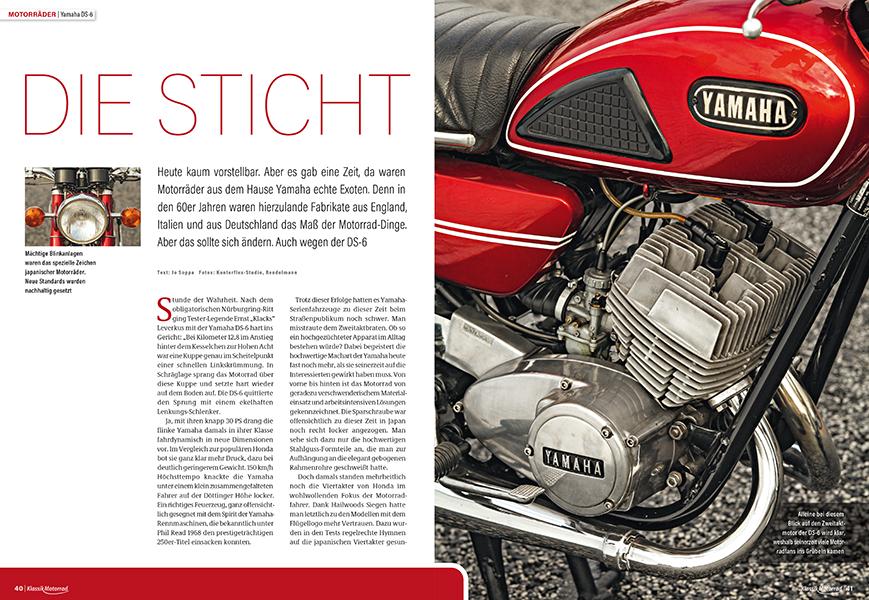 Yamaha DS-6: Als japanische Motorräder in Deutschland noch als Exoten galten
