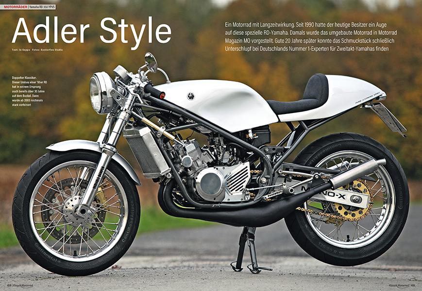 Bildschöner Yamaha RD 350 YPVS-Umbau, der bereits 1990 realisiert wurde und nun den zweiten Frühling genießt