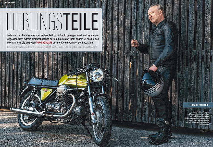 Bekleidungs- und Zubehörteile der MO-Redakteure, auf die sie im Motorrad-Alltag nicht mehr verzichten möchten