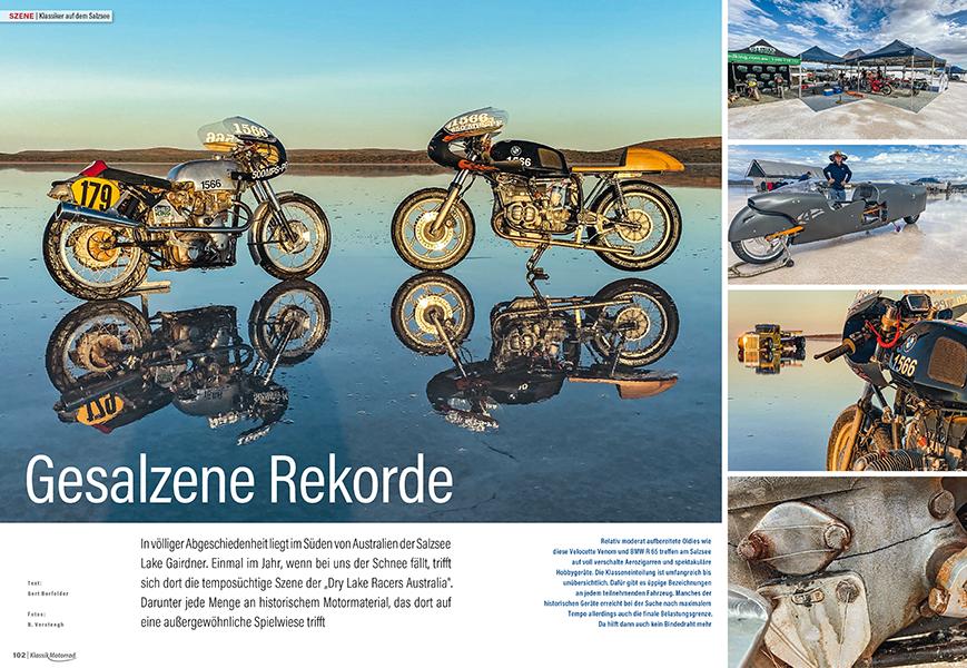 Mit Klassikern auf dem Salzsee, ein Motorrad-Erlebnis der Extraklasse