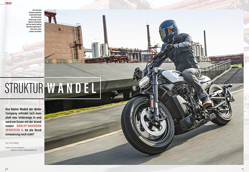 Test der brandneuen Harley-Davidson Sportster S mit wassergekühltem V-Twin
