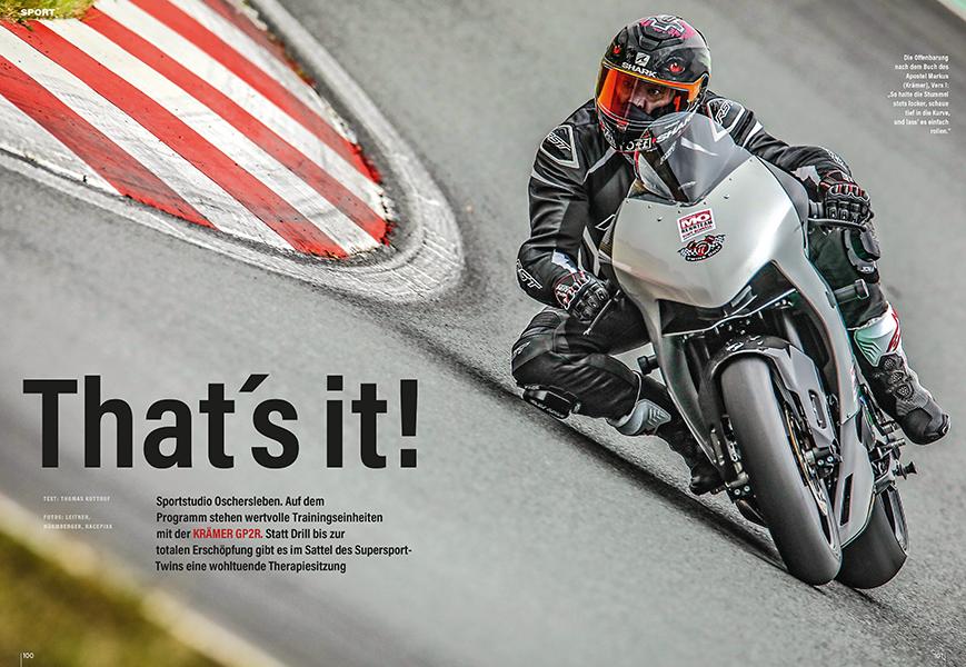 Krämer GP2R: reinrassiges Rennmotorrad mit dem Twin der KTM 890 Duke im Test