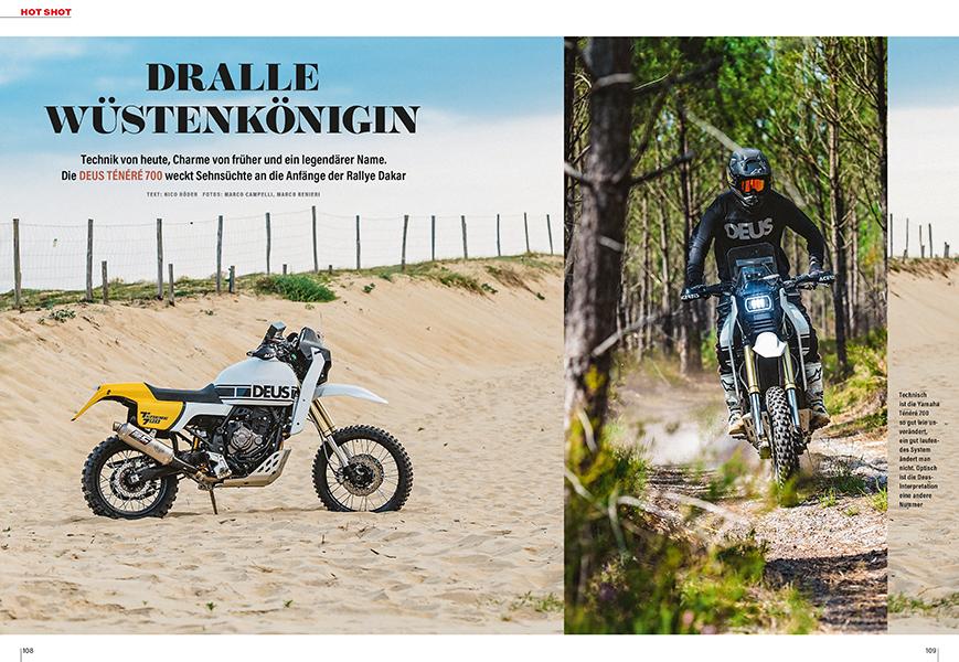 Aktuelle Yamaha Ténéré im Look der frühen, legendären Rallye Dakar-Maschinen