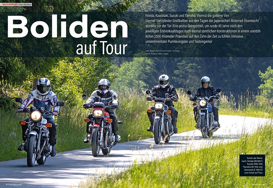 Japan Bigbikes: Honda CB 900 F Bol d'Or, Suzuki GSX 1100, Yamaha XS 1100 und Kawasaki Z 1100 ST