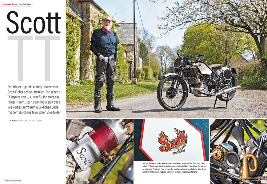 Die TT Replica ist der Inbegriff des Scott-Zweitakters. Für Andy Rowett verging das halbe Leben, bis er sie bekam