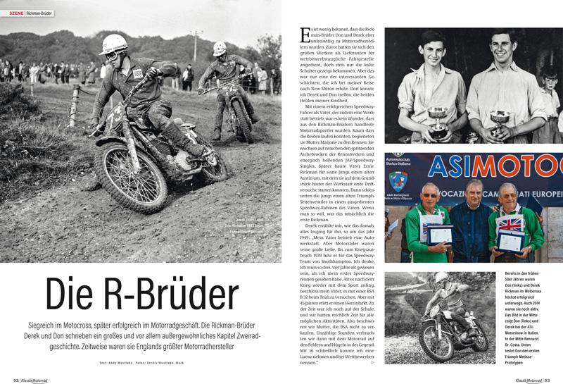 Siegreich im Motocross, später erfolgreich im Motorrad-Geschäft: die Rickman-Brüder