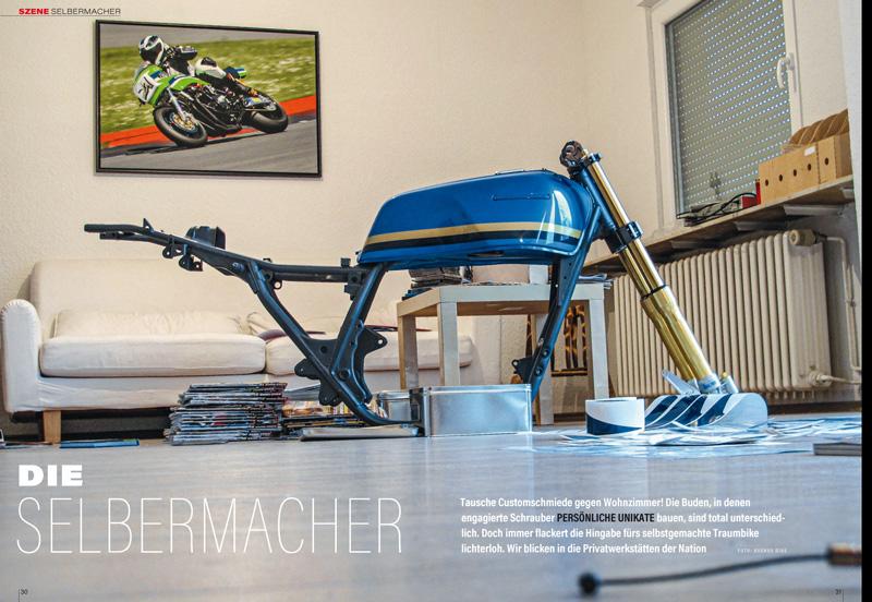 Selbermacher haben mehr vom Motorrad-Leben: Manch einer nimmt sein Werk sogar mit ins Wohnzimmer
