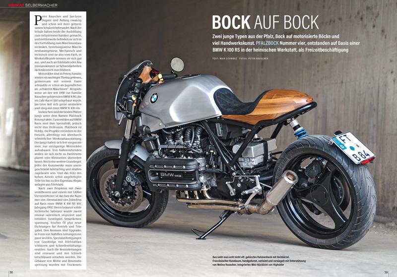 Armaturenbrett mit Holzintarsien? Im Naked Bike-Umbau der Vierzylinder- K 100 wirkt das sehr edel