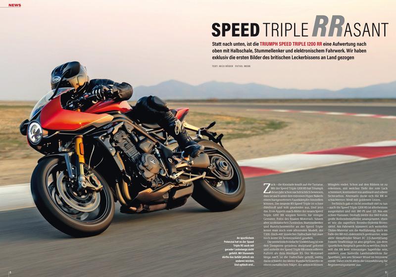 Neue Triumph Speed Triple 1200 RR, die sportlichste Speed Triple aller Zeiten